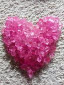 Růžové kamínky ,