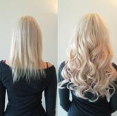 Clip In vlasy vlnité, Blond, 60cm,