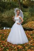 Svatební šaty - včetně závoje a kruhové spodnice, 38