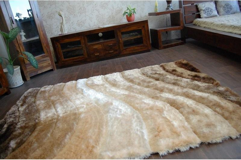 3D hnedý shaggy koberec - 120x170cm - Obrázok č. 4