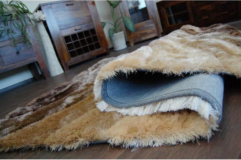 3D hnedý shaggy koberec - 120x170cm - Obrázok č. 3
