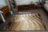 3D hnedý shaggy koberec - 120x170cm,