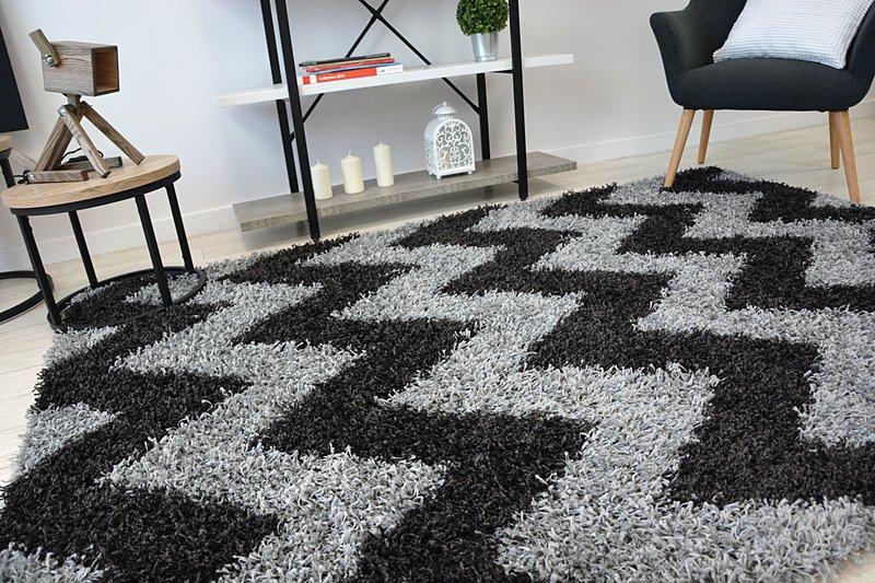Shaggy cik-cak koberec - rozmer 120x170cm - Obrázok č. 3