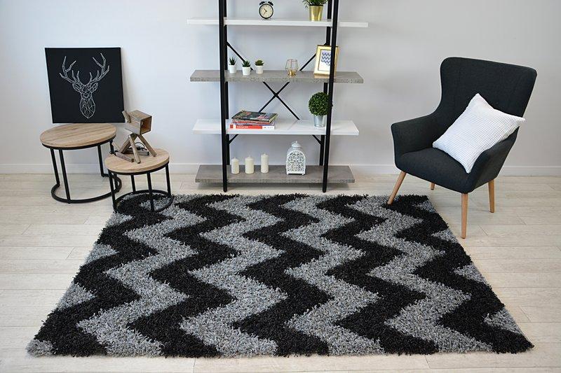Shaggy cik-cak koberec - rozmer 120x170cm - Obrázok č. 1