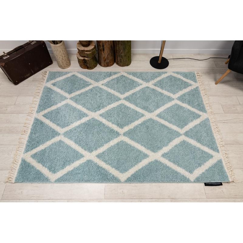 Moderný shaggy koberec modrý - Obrázok č. 1