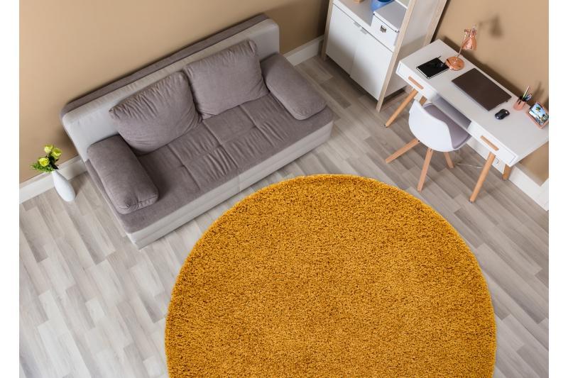 Žltý shaggy koberec - Obrázok č. 2