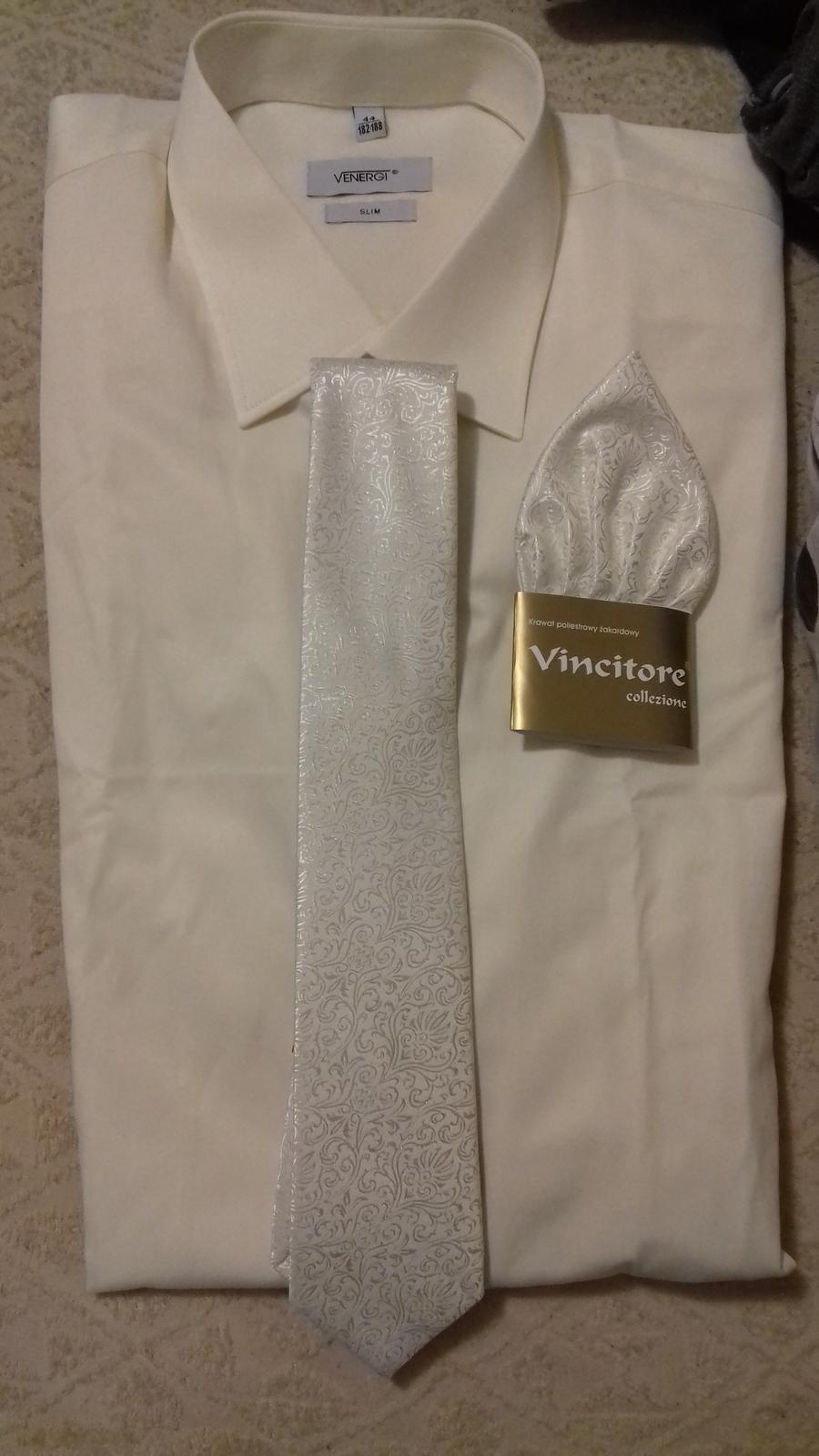 kravata a vreckovka - Obrázok č. 1