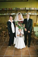 moji rodiče a můj miláček, dcera mého manžela Barunka