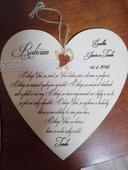 Srdce - poděkování pro rodiče,