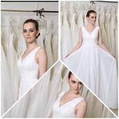 svadobné šaty  výstrih do V trend r.2019, 38
