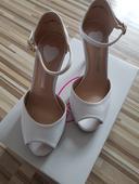Biele topánky na svadbu, 36