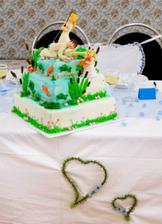 náš netradiční svatební dort