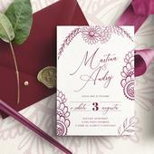 Orientální svatební oznámení,