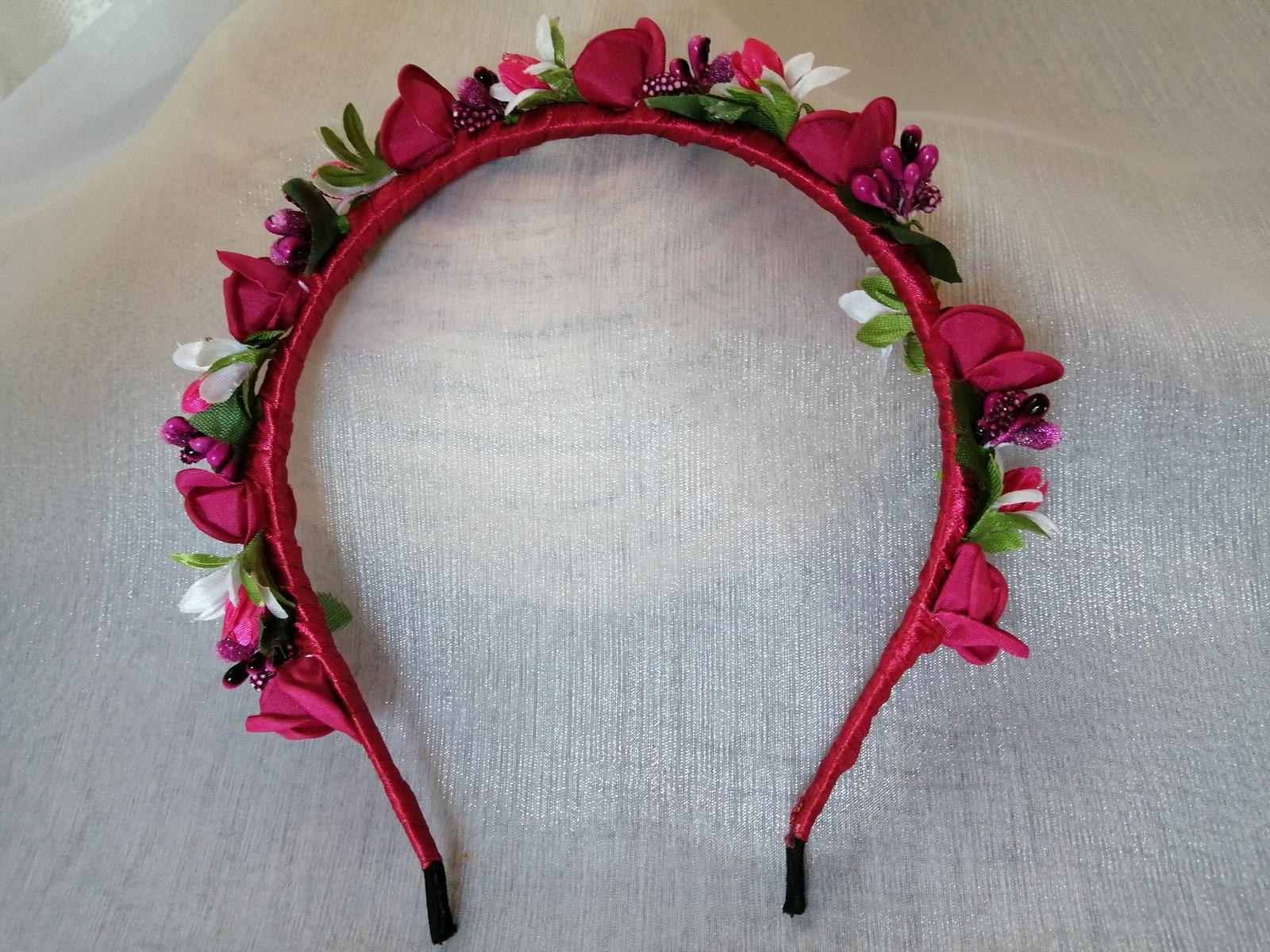 Kvetinová čelenka do vlasov - Obrázok č. 3