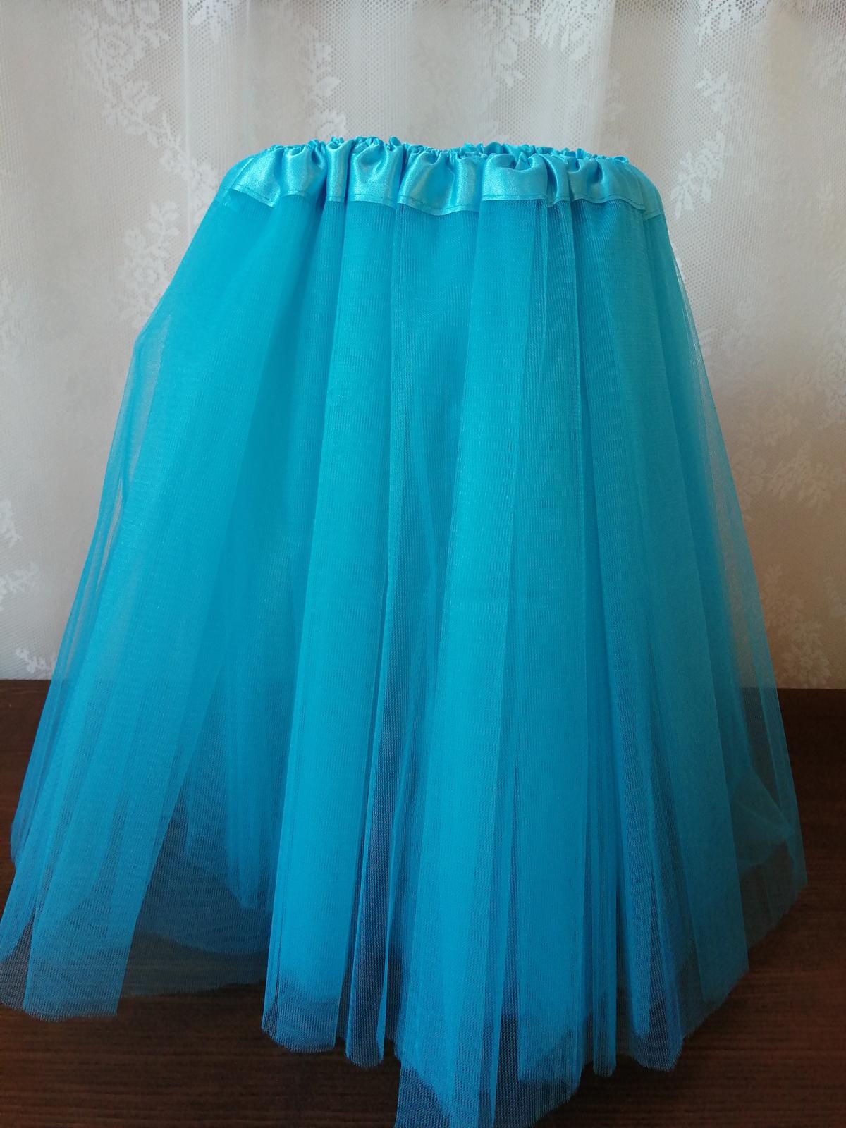 Tylová sukňa modrá - Obrázok č. 1
