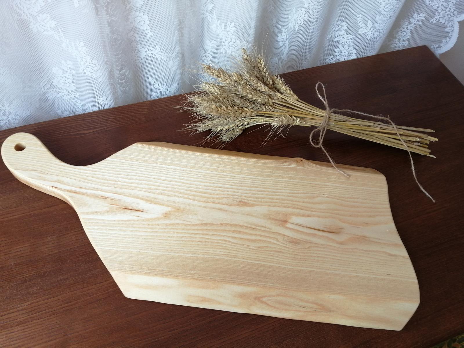 Nepoužitý podnos, podložka na krájanie z masívneho dreva - Obrázok č. 1