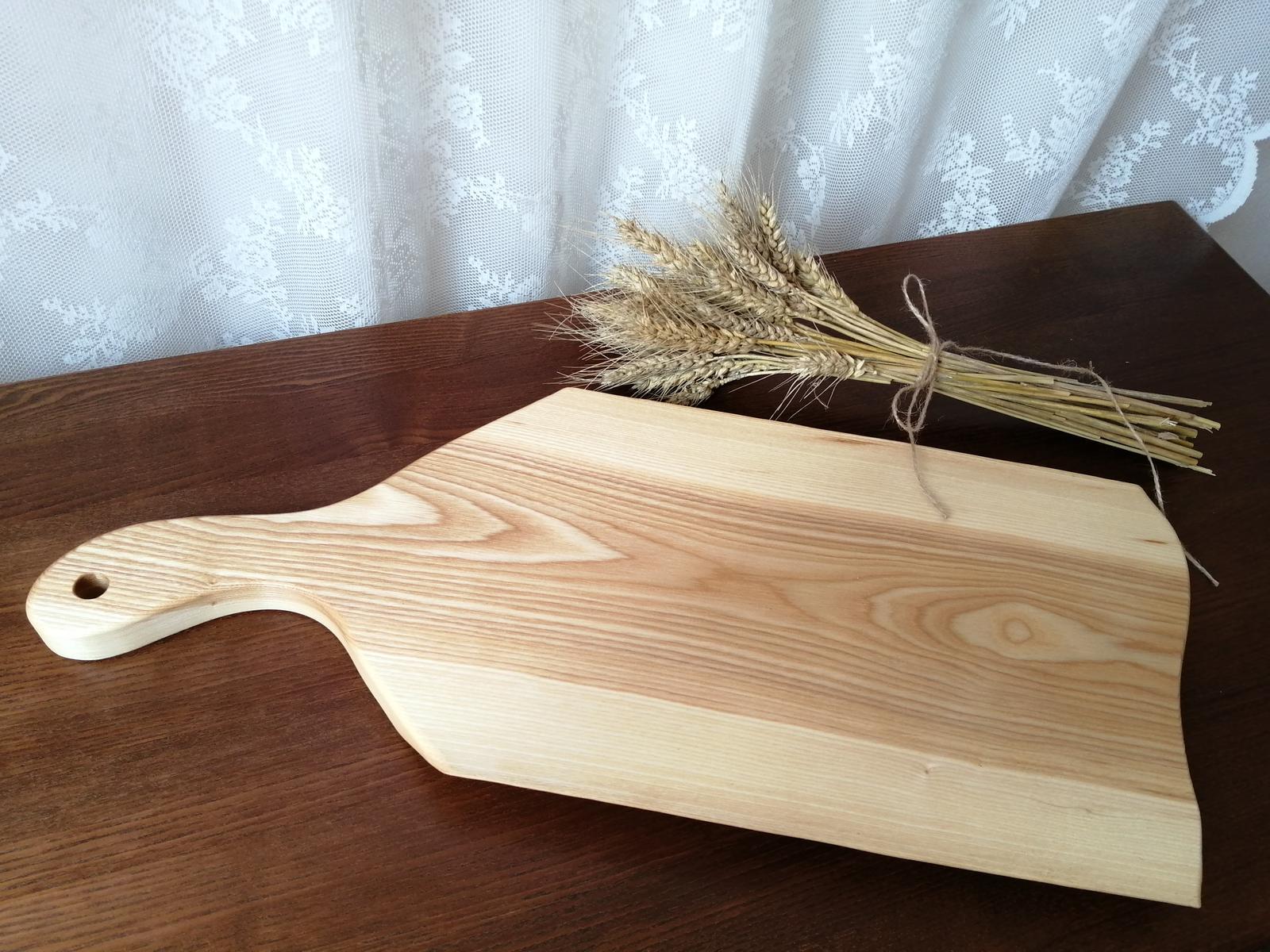 Nepoužitý podnos, podložka na krájanie z masívneho dreva - Obrázok č. 2