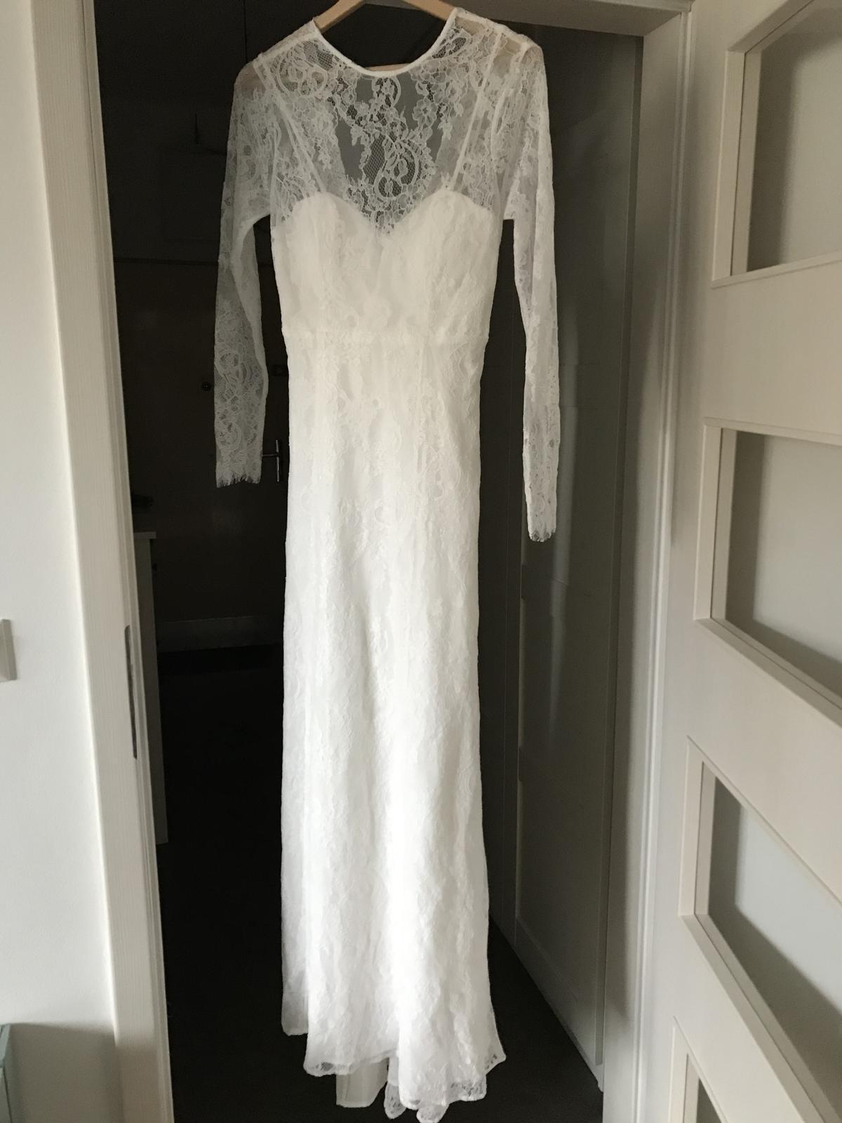 Svatební šaty s odhalenými zády, vel. 36, nenošené - Obrázek č. 2