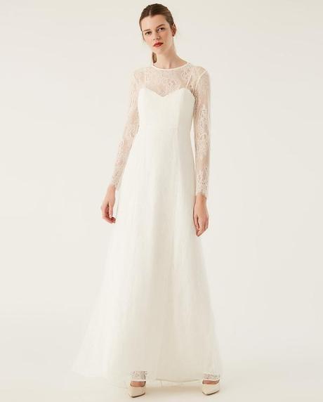 Svatební šaty s odhalenými zády, vel. 36, nenošené - Obrázek č. 4