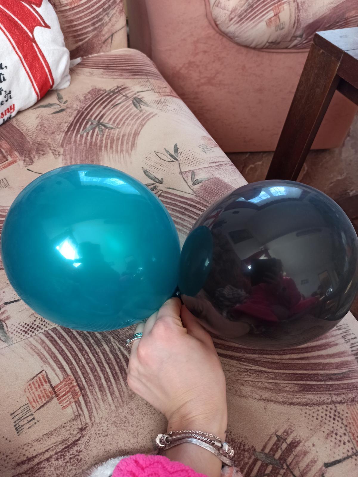 Balónky teal/petrolejové - Obrázek č. 4