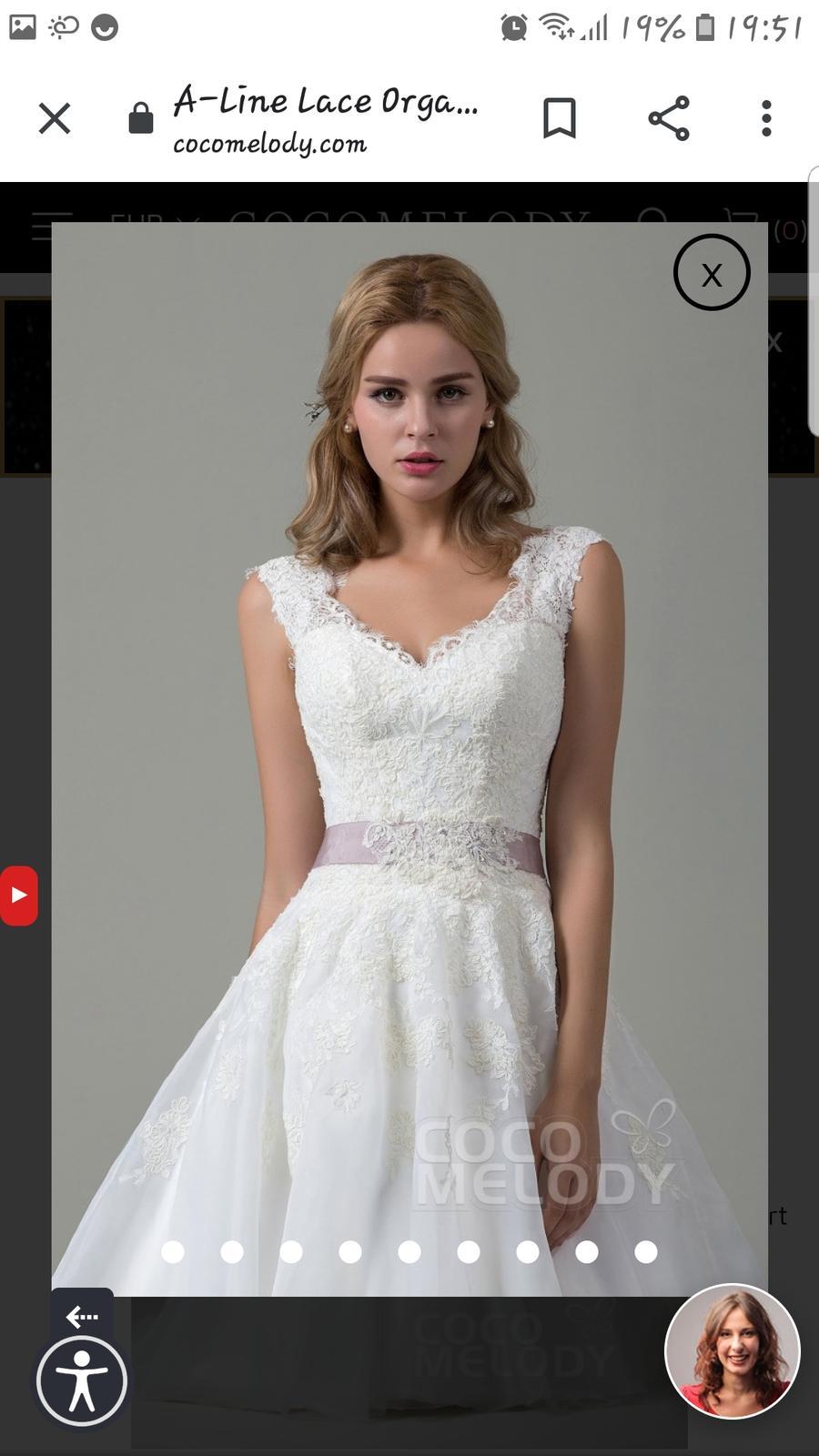 Svadobné šaty Cocomelody - Obrázok č. 1