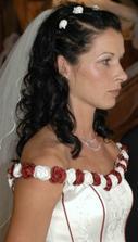nevěsta při obřadu