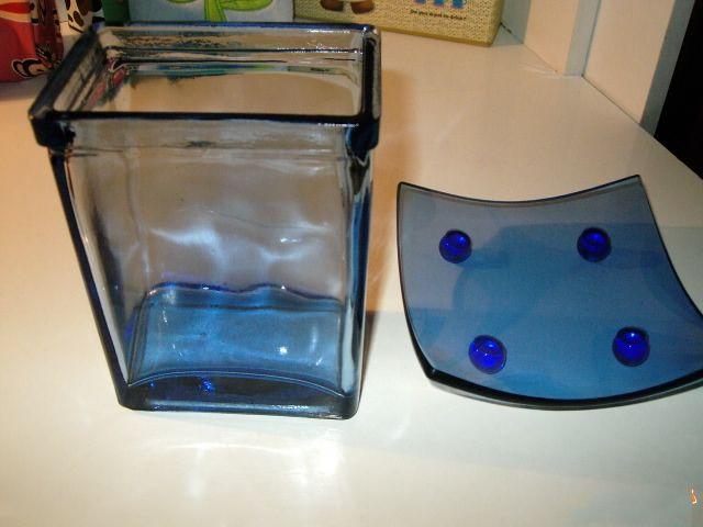sklo modry set spolu - Obrázok č. 1