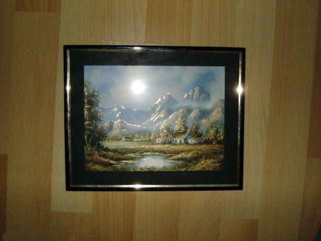 obraz so sklom ciernozlaty krajinka - Obrázok č. 1