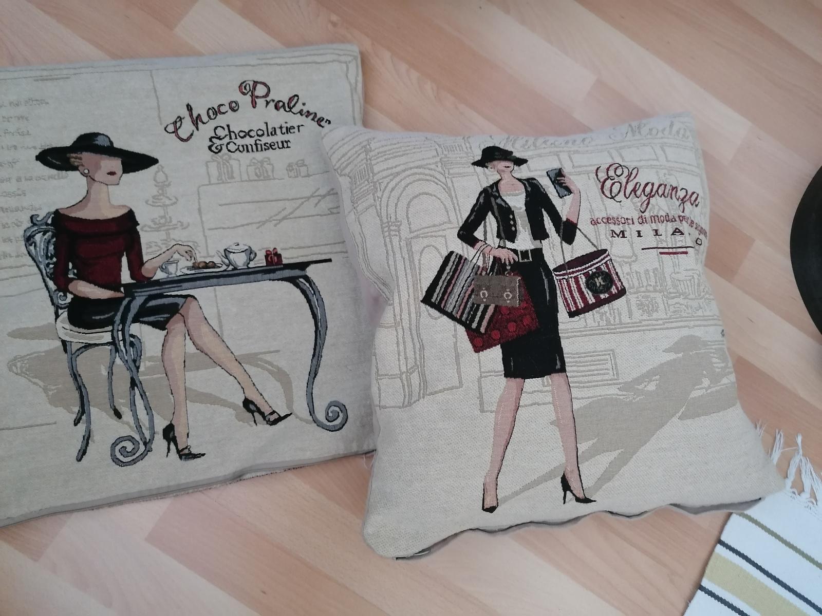 Dva ks dekoratívne obliečky na vankúš 45krat45cm - Obrázok č. 1