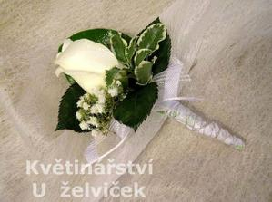 korsáž - v bílé