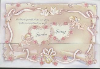nase krasne svadobne oznamenie