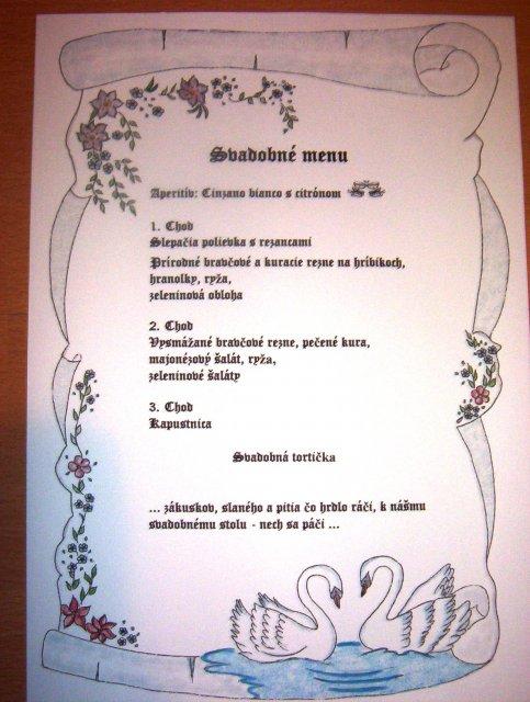 Veronika a Marek - Svadobné menu