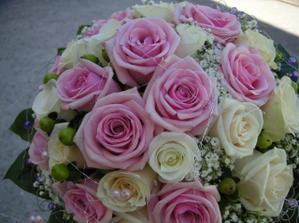svatební kytice - něco takového si představuju