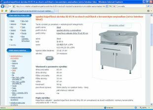 výber zariaďovacích predmetov - skrinka a umývadlo Ideál