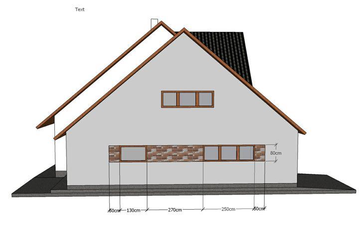 Návrh fasády - Varianta č.2