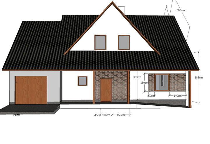 Návrh fasády - Varianta č.2 ta barva má být tm.šedá..