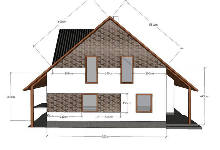 Návrh fasády - Varianta č:2