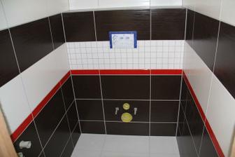 záchod konečně dodělán a zaspárován