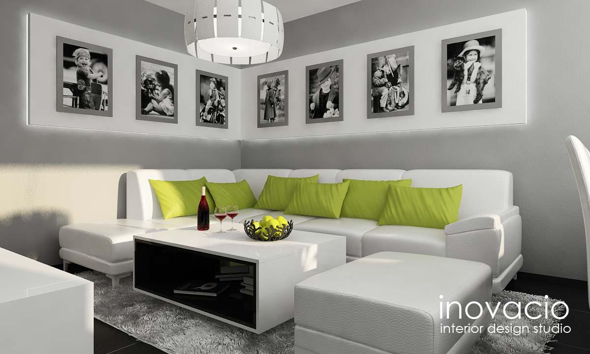 Interiér obývačky, kuchyne a chodby - byt Levice 2017 - Obrázok č. 3