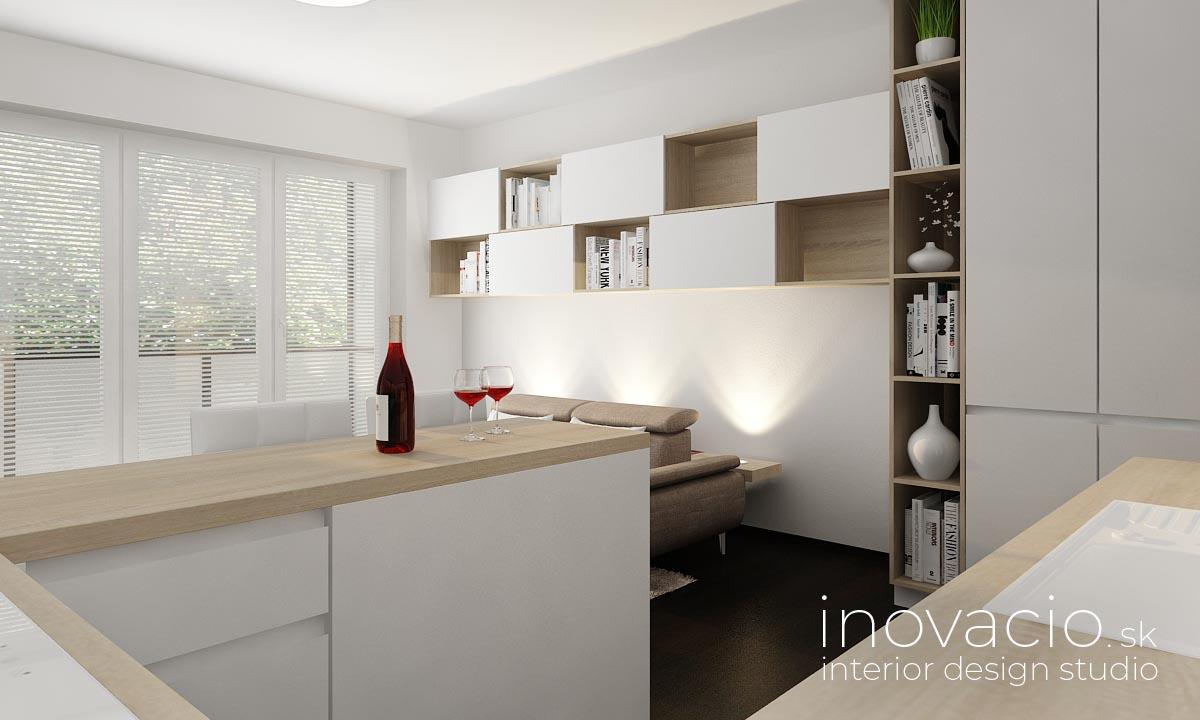 Interiér obývačky a kuchyne Kopidlno 2019 - Obrázok č. 7