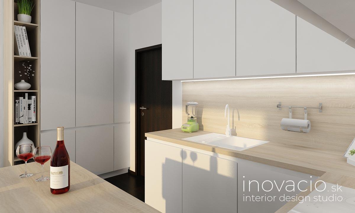 Interiér obývačky a kuchyne Kopidlno 2019 - Obrázok č. 8