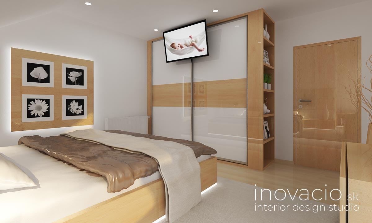 Inovacio - interiér spálne Lučenec 2019 - rodinný dom - Obrázok č. 2