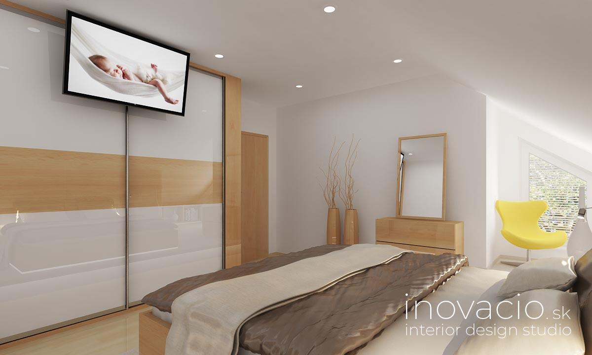 Inovacio - interiér spálne Lučenec 2019 - rodinný dom - Obrázok č. 3