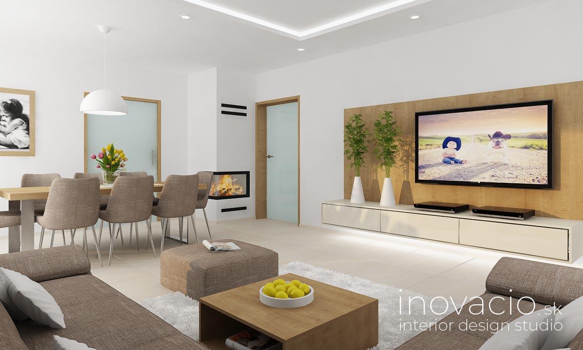 Interiér obývačky Vysoká pri Morave 2020 - rodinný dom - Obrázok č. 1