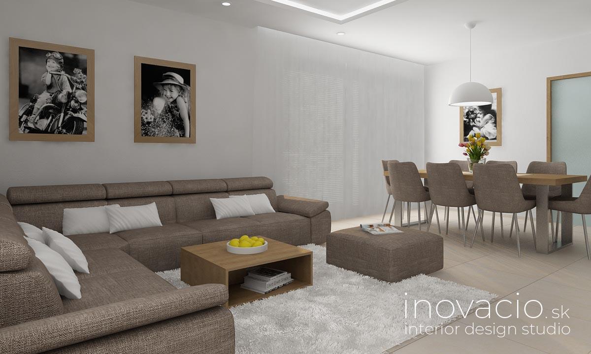 Interiér obývačky Vysoká pri Morave 2020 - rodinný dom - Obrázok č. 2