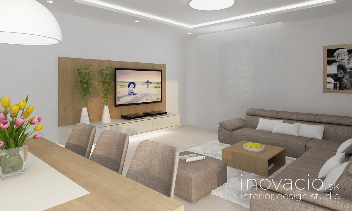 Interiér obývačky Vysoká pri Morave 2020 - rodinný dom - Obrázok č. 3