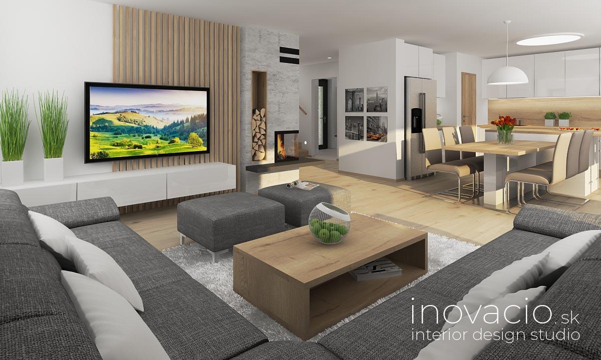 Interiér obývačky Krompachy 2020 - rodinný dom - Obrázok č. 1