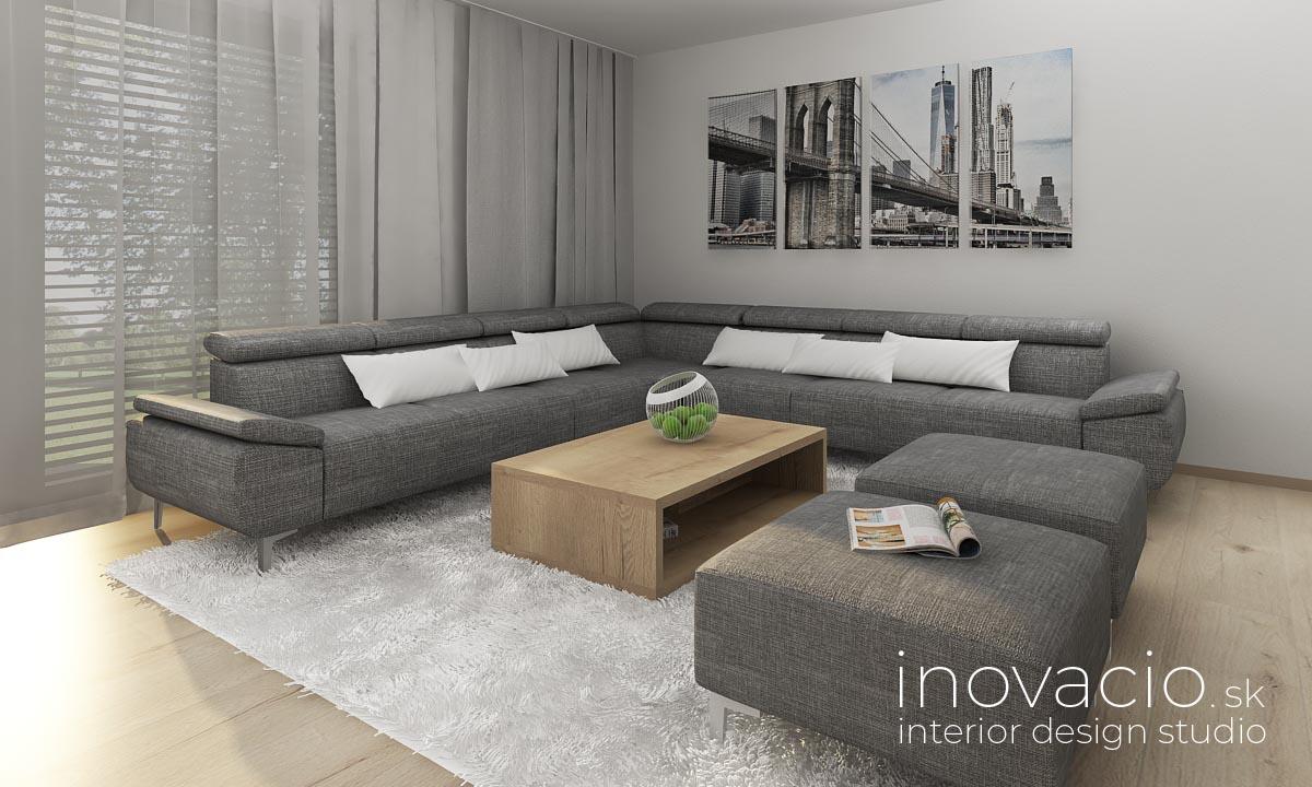 Interiér obývačky Krompachy 2020 - rodinný dom - Obrázok č. 3