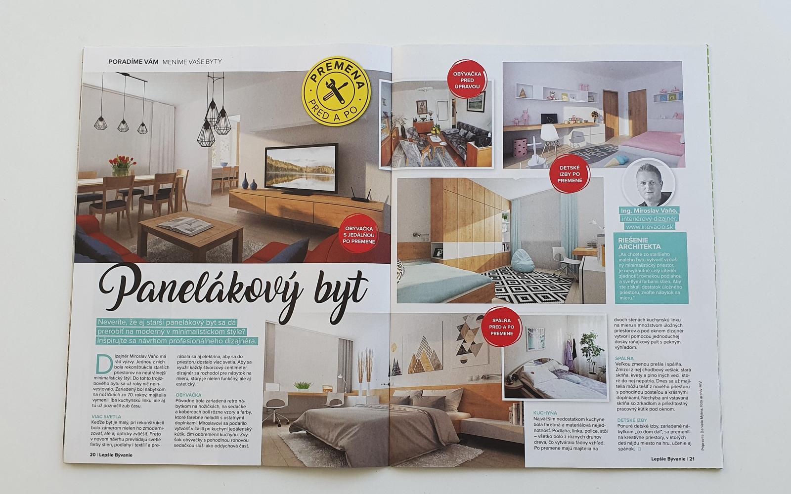 Náša práca v júlovom čísle časopisu Lepšie bývanie - Obrázok č. 1
