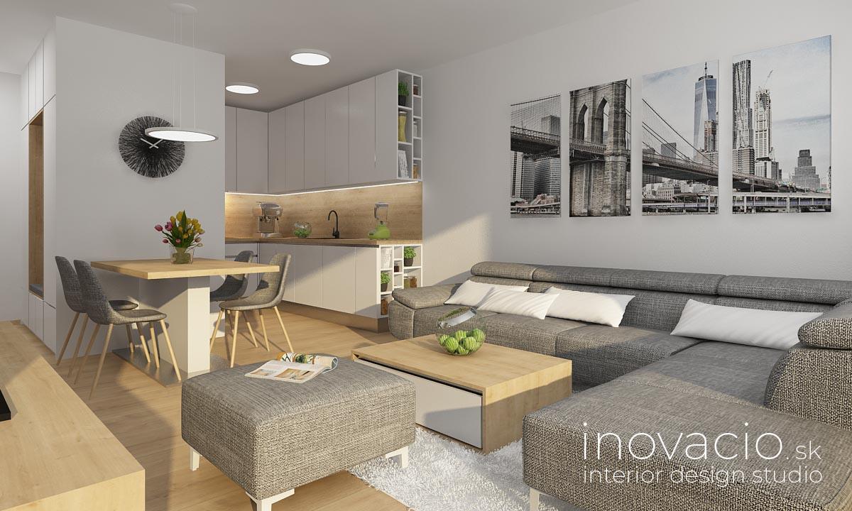 Interiér obývačky a kuchyne Nitra 2020 - rodinný dom - Obrázok č. 1